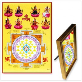 Ashta Laxmi With Yantra Photo